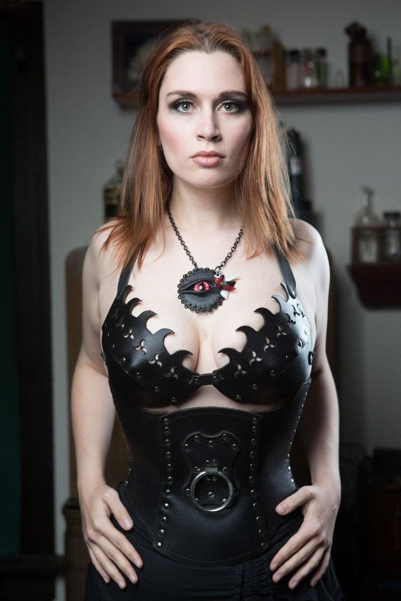 Hard Leather Fanged Bra  Custom image 0