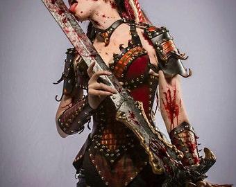 Ladies' Leather Red Dragon Slayer Fantasy Armor