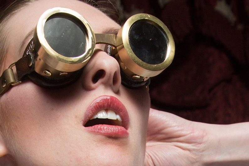 Steam Laboratory Solid Brass Goggles image 0