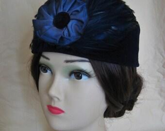 52bc9d4c66520 Civil War Victorian Hat/Toque. 1860's Dickens.   Etsy