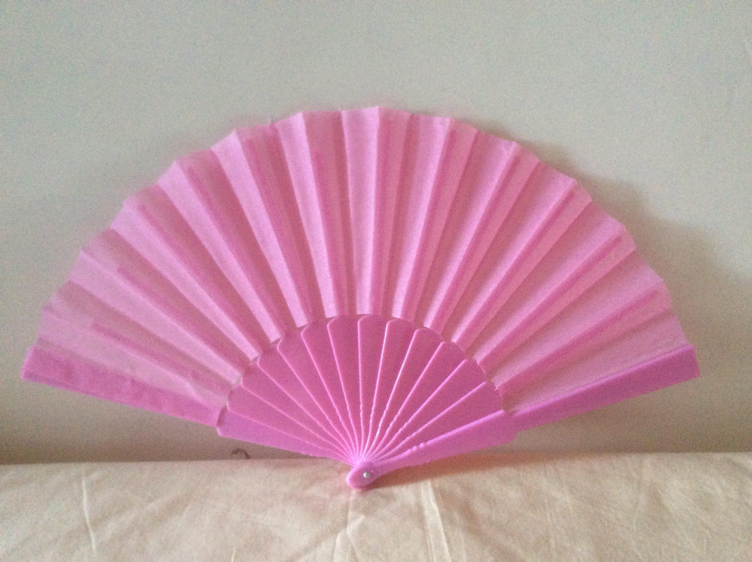 Regency/Victorian Style Fan. Pink Fabric Fan. Hand