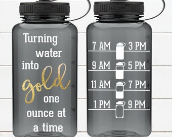 Breastfeeding water bottle! Turning water into gold one ounce at a time! 34oz BPA Free ! Motivation Inspiration Fitness Exercise Healthy