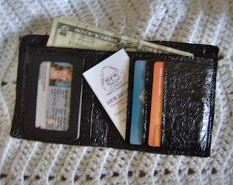 black fused plastic men's wallet