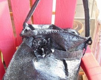 Roomy Black Fused Plastic Carry-All