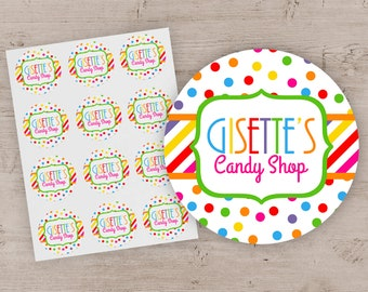 f923a90f0a Candy Shop Party Favor Stickers