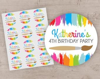 5fd005023b Art Party Favor Stickers