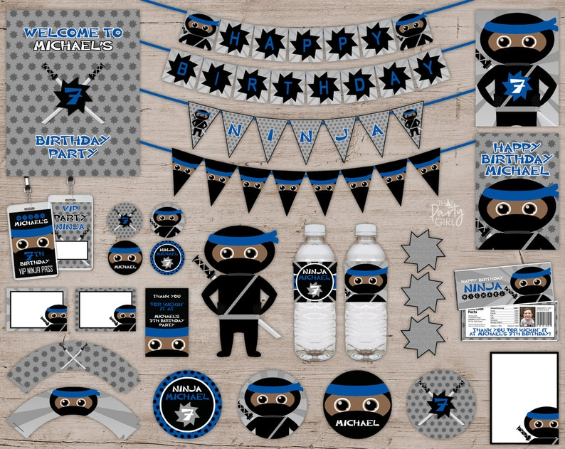 Ninja Party Favors Ninja Birthday Party Ninja Party image 0