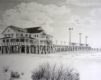 Custom Pencil Drawing From Your Photo - 8x10 Original Personalized Home House Sketch Art From Picture