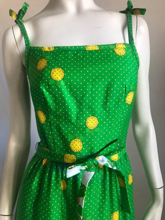 60's 70's Maxi Sun Dress by MALIA Honolulu Green B