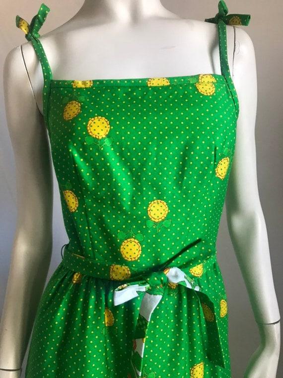 60's 70's Maxi Sun Dress by MALIA Honolulu Green … - image 2