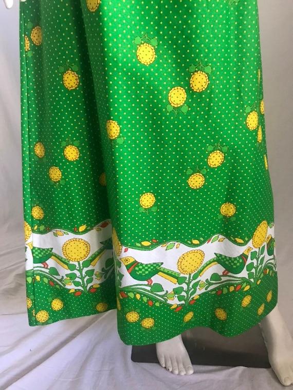 60's 70's Maxi Sun Dress by MALIA Honolulu Green … - image 5