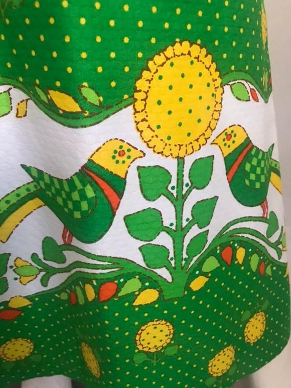 60's 70's Maxi Sun Dress by MALIA Honolulu Green … - image 6