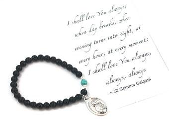 St Gemma Galgani Saint Bracelet Saint Gemma Galgani bracelet catholic bracelet LOVE jewelry confirmation gift Religious gift inspirational