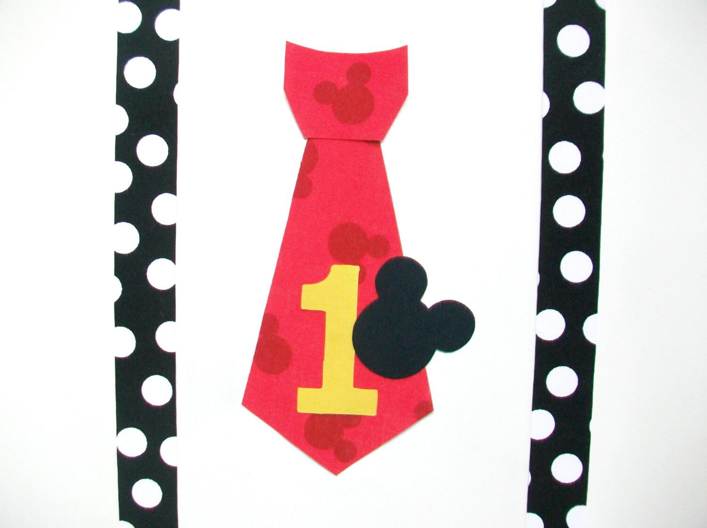 Corbata de Mickey Mouse No DIY coser y tirantes apliques de | Etsy
