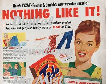 New Tide Ad - circa 1950's