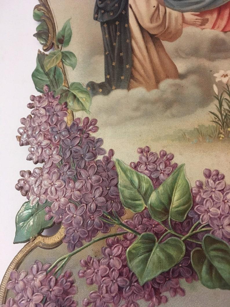 1870/'s Victorian Die Cut Calendar Back  c