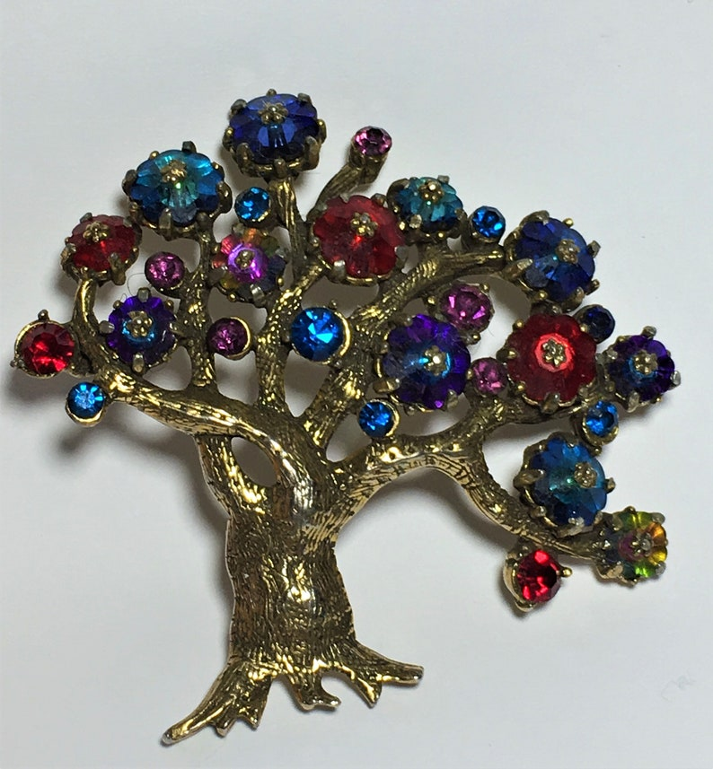 Beautiful and Rare Weiss Tree of Life Brooch - Needs Repair