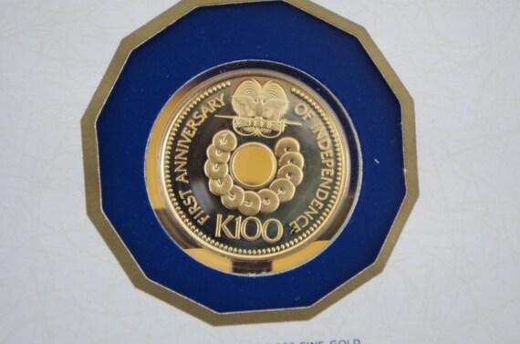 100 Kina Gold Münze Papua Neuguinea 957 G Etsy
