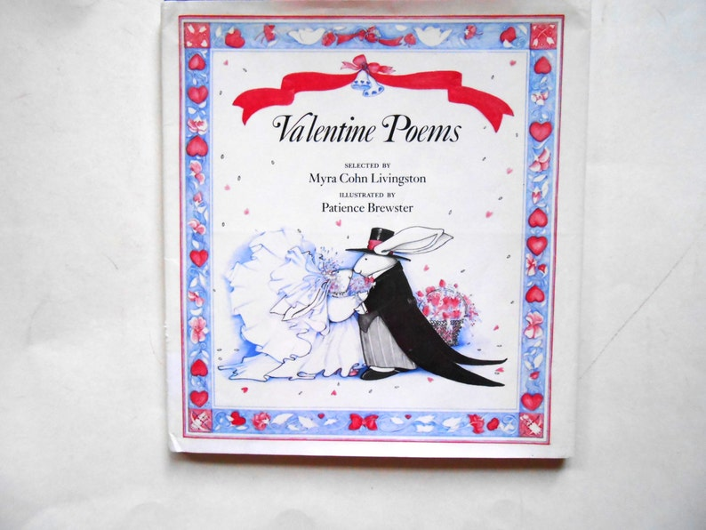 Valentine Poems a Vintage Children's Poetry Book Myra image 0