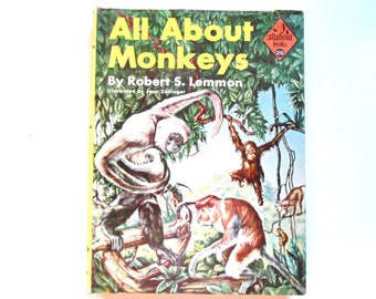 All About Monkeys, a Vintage Children's Book