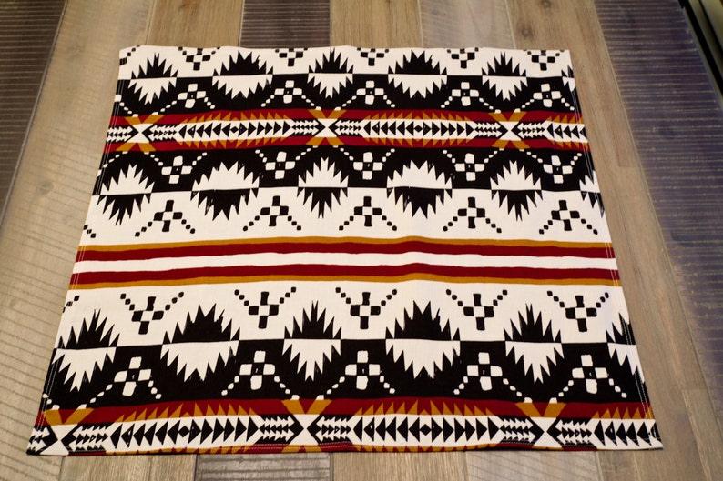 Western Scarf  Santa Fe Print  BurgundyBlackIvory  Cowgirl Scarf  Cowboy Scarf  Western Bandana  Cotton