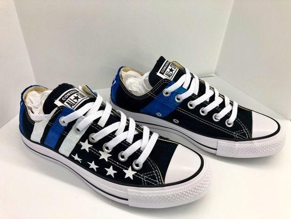 Thin Blue Line Shoes custom designed on