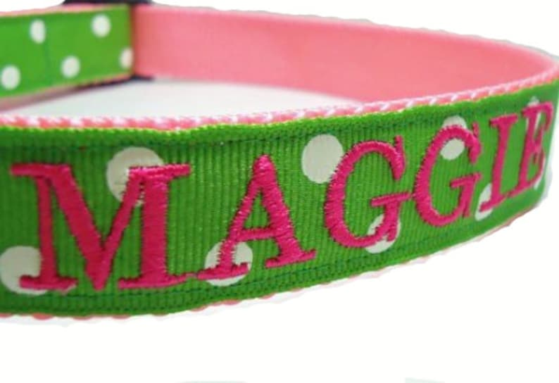 24f34e3045b1 Dog Collar Personalized with Name Dog Collar Embroidered Dog   Etsy