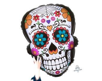 "Halloween Mighty Sugar Skull 27/"" Foil Balloon"