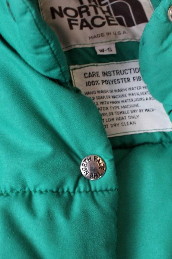 LL Bean Green Down Vest XS/S • 80s Vest • Vintage… - image 4
