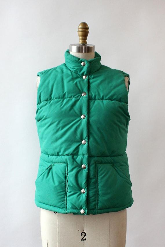 LL Bean Green Down Vest XS/S • 80s Vest • Vintage… - image 6