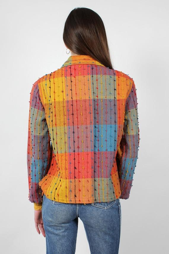 Rainbow Shag Jacket XS-M • 90s Jacket • Vintage R… - image 5