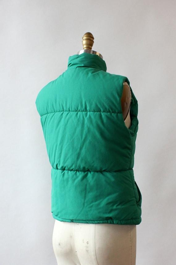 LL Bean Green Down Vest XS/S • 80s Vest • Vintage… - image 3