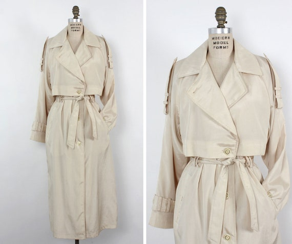 Pearly Lightweight Trench Coat S-L • 90s Trench Co