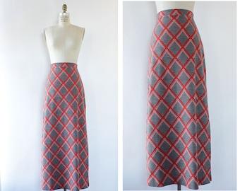 Vintage Jantzen Maxi Skirt XS/S • 70s Maxi Skirt • Wool Maxi Skirt • Vintage Wool Skirt • High Waisted Skirt • Vintage Maxi Skirt | SK1132