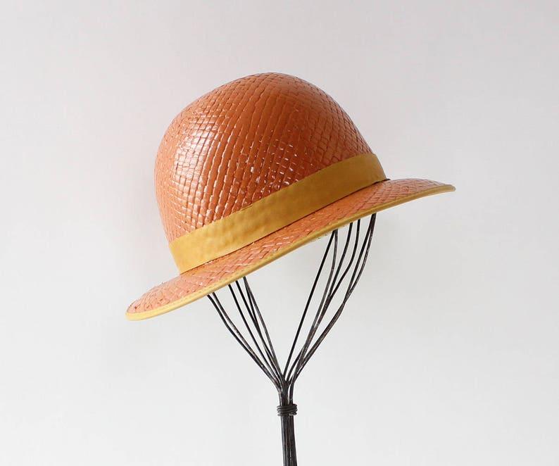70s Gucci Bowler Hat Vintage Straw Hat Vintage Gucci Hat  d0274db60fd