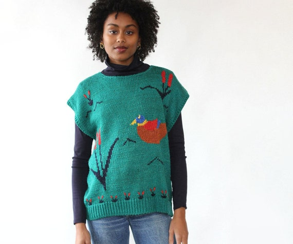 Marshland Sweater Vest M-XL • 80s Sweater • Vintag