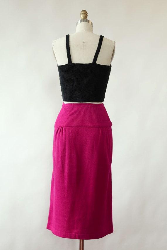 Norma Kamali Snap Skirt XS/S • 80s Skirt • Vintag… - image 5