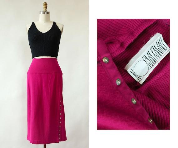 Norma Kamali Snap Skirt XS/S • 80s Skirt • Vintage