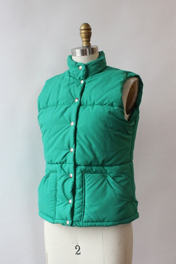 LL Bean Green Down Vest XS/S • 80s Vest • Vintage… - image 5