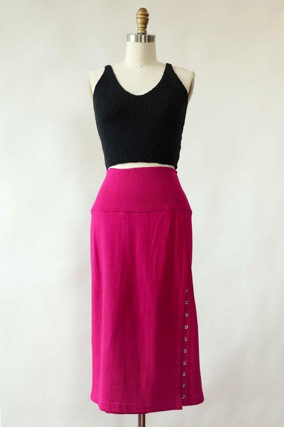 Norma Kamali Snap Skirt XS/S • 80s Skirt • Vintag… - image 2