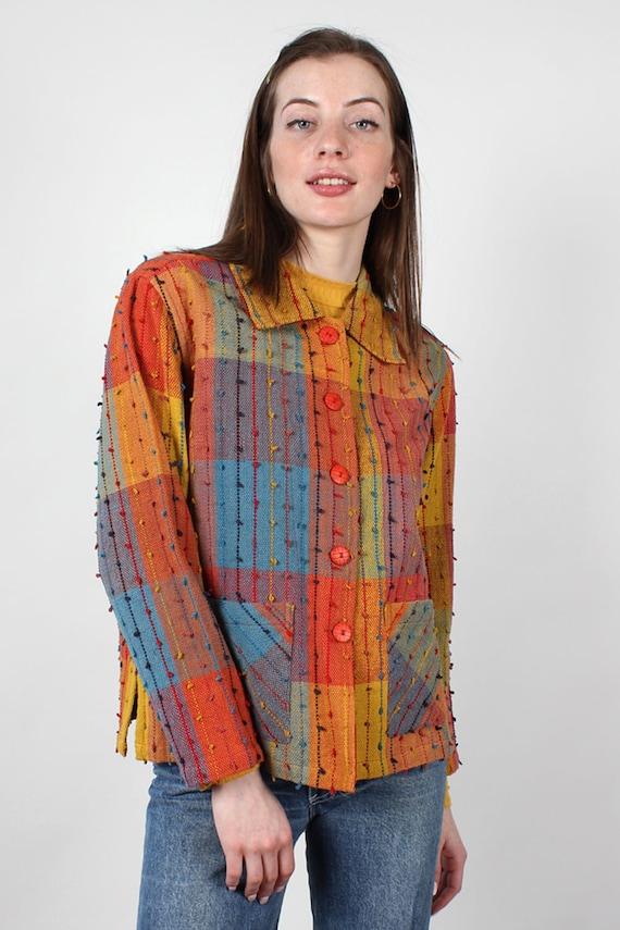 Rainbow Shag Jacket XS-M • 90s Jacket • Vintage R… - image 3