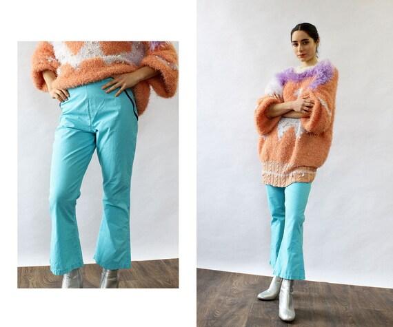 Sky Blue Kick Flares XS • 70s Pants • Kick Flare p