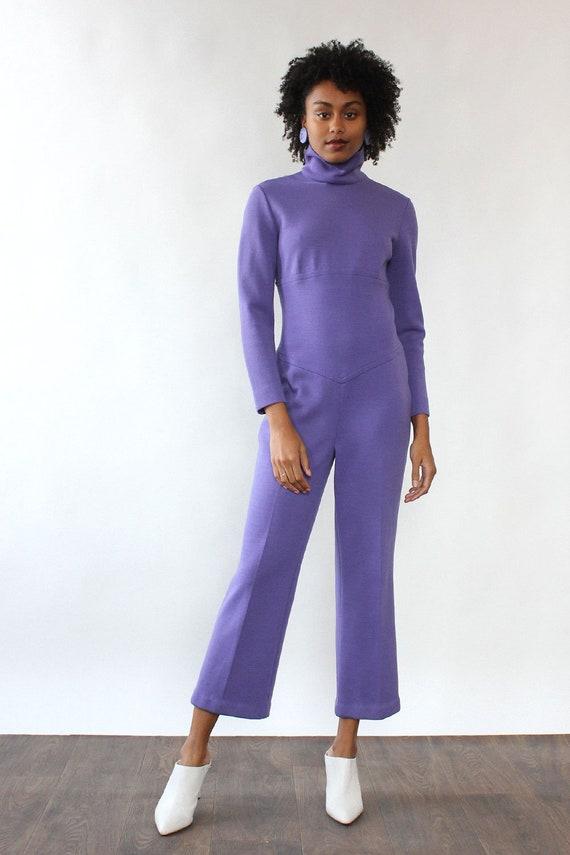 Orchid Knit Jumpsuit M • 60s Jumpsuit • Vintage Ju