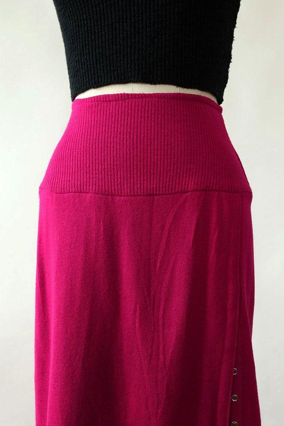 Norma Kamali Snap Skirt XS/S • 80s Skirt • Vintag… - image 3
