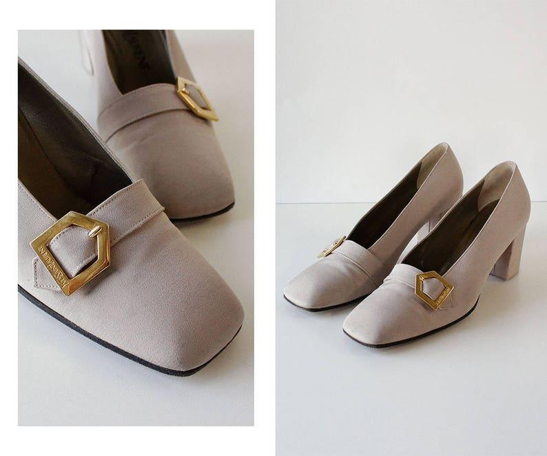 295a9393a3cd Vintage YSL Shoes 8 Yves Saint Laurent Shoes 90s Pumps