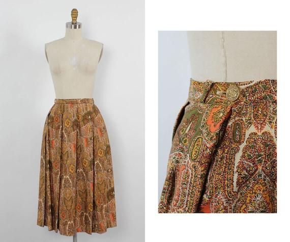Peck & Peck Midcentury Cotton Skirt XS • 60s Skirt