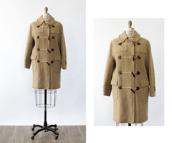 Austrian Duffle Coat S • 80s Wool Coat • Toggle Co