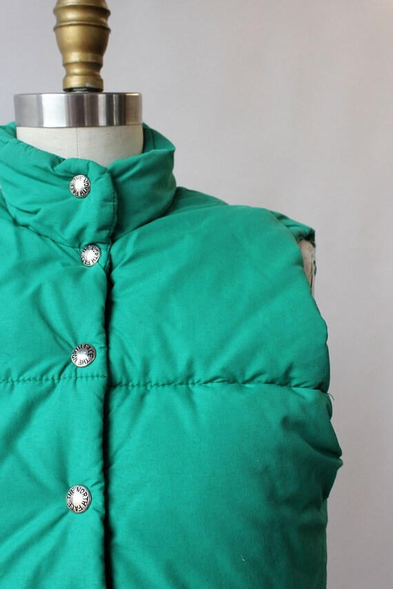 LL Bean Green Down Vest XS/S • 80s Vest • Vintage… - image 2