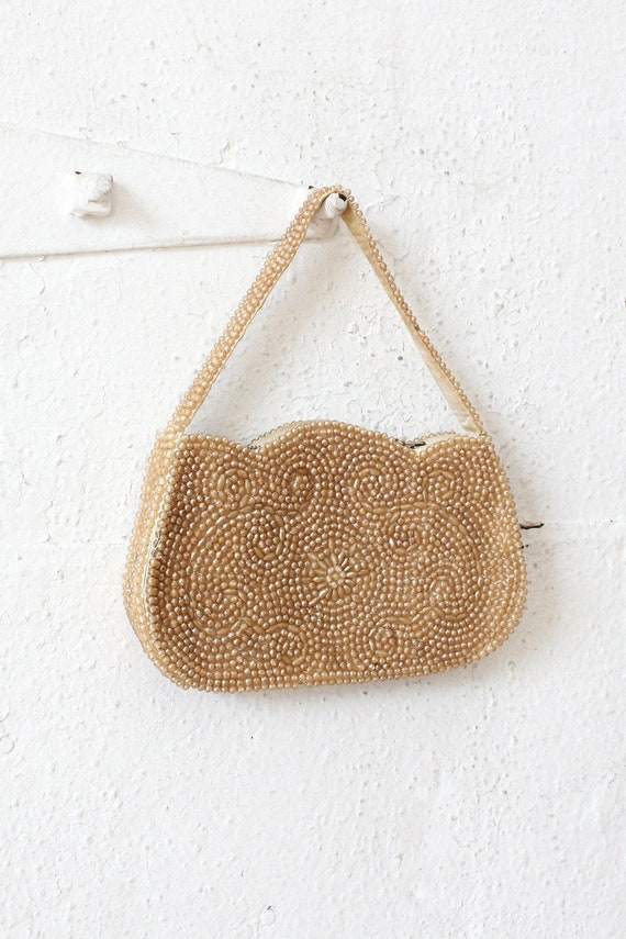 Pearlescent Mini Bag • 60s Handbag • Vintage Beade