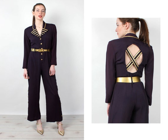 Captain Crossback Jumpsuit S/M • 90s Jumpsuit • Vi